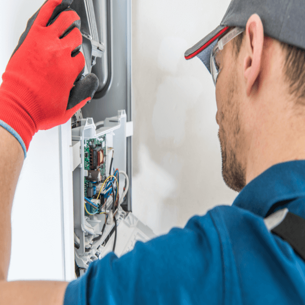 Gas Boiler Serviced By Professional