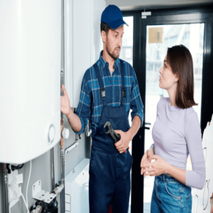 Gas Boiler Engineer With Customer